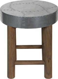 Uttermost 24677 Jace Industrial Aluminum Stool