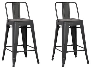 Mickey Bar Stools Set of 2 Matte Black 24 quot