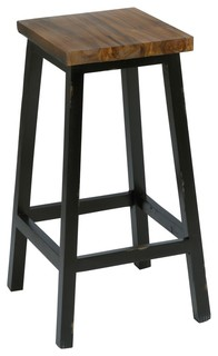 Gelndova Teak Barstool Natural and Black