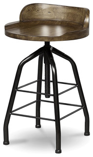 Universal Great Rooms Potter x27 s Stool Hickory Stick