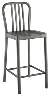 Modway Clink Counter Stool Silver