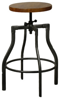 Chicago Bar Stool Gunmetal