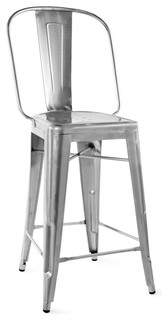 Dreux Steel Bar Chair 30 Inch Gunmetal Set of 4