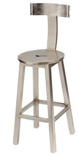 Seat Height Steel Finish Bar Stool