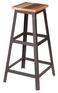 Zuo Modern Cora Bar Stool Distressed Natural