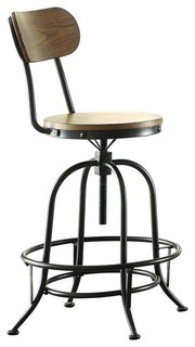 Homelegance Angstrom Counter Height Chairs With Adjustable Height Set of 2