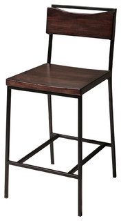 Elrik Wood and Metal Modern Counter Stool
