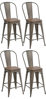 24 quot Industrial Counter Bar Stool Set of 4