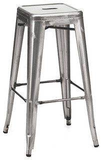 Ajax Retro Steel Stool Gunmetal
