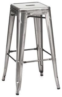 Ajax Retro Steel Stool Gunmetal