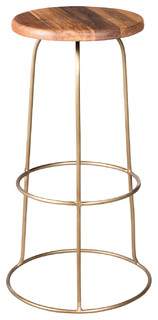 Wilco Bar Stool Brass