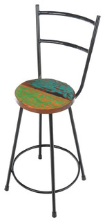 Reclaimed Boat Counter Stool