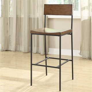Carolina Classics Elmsley 30 quot Bar Stool Chestnut and Black