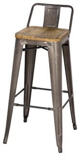Grand Bar Stools Set of 4 Gunmetal
