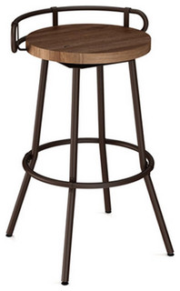 Button Swivel Bar Stool