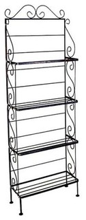 18 quot Wide Bakers Rack With 4 Shelves Burnished Copper