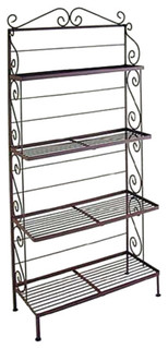 30 quot Four Graduated Shelf Bakers Rack Antique Bronze