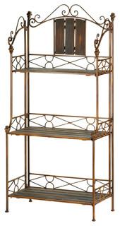 Rustic Bakers Rack Shelf