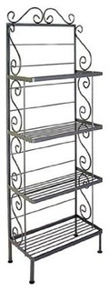 24 quot Steel French Bakers Rack With 4 Steel Shelves Deep Bronze
