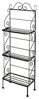 12 quot Bakers Rack Light 3 Shelf Rack Milk White