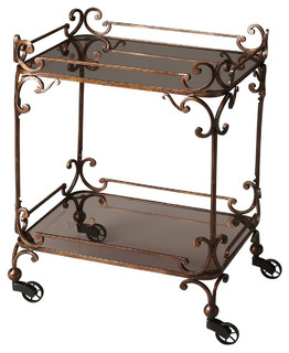 Butler Metal Works Victorian Bar Serving Cart