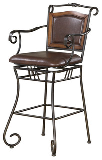 Coaster 29 Metal Bar Stool With Upholstered Seat