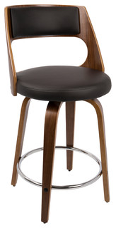 Catalina Counter Stool Walnut and Brown
