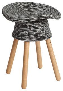 Coiled Stool Gray