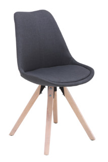 Dark Grey Fabric Seat Barstool