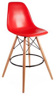 Mid Century Retro DSB Style Bar Stool Red