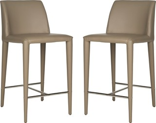 Garretson Counter Stools Set of 2 Taupe