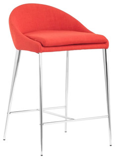 Brielle C Counter Stool Set of 2 Tangerine