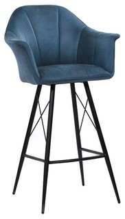 Olivier Blue Stool Bar Height