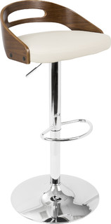 Cassis Bar Stool Walnut and Cream