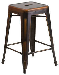 Mystic Distressed Indoor Outdoor Counter Stool Copper