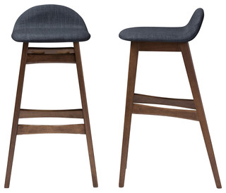 Bloom Bar Stools Set of 2 Dark Blue