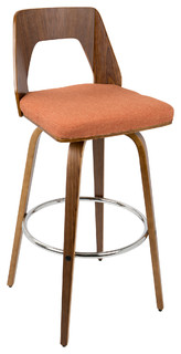 Trilogy 30 quot Barstool Walnut Orange