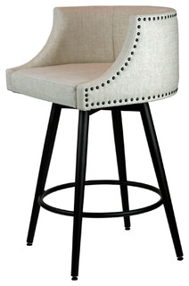 Comfortable Counter Stool With Memory Return Swivel