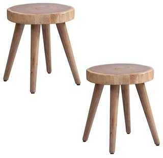 Arcadia Naturale Dining Stools Set of 2 Natural