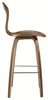 Fine Mod Imports Wooden Bar Chair 30 quot Walnut