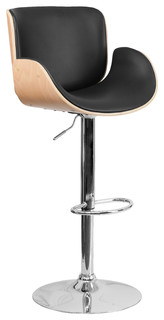 Kennedy Adjustable Swivel Stool Beechwood and Black