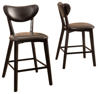 Gicquel Counter Stools Set of 2 Brown