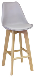 Jacob Bar Stool Gray Soft Padded Seat