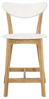 Retro Modern Barstools Set Of 2 White Natural