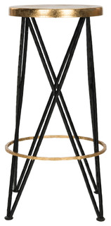 Hester Metal Bar Stool Black and Gold