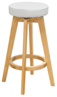 Mod Made Rex Modern Wood Counter Stool White