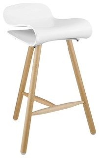 Modway Clip Bar Stool White