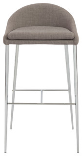 Brielle Bar Stools Set of 2 Gray and Chrome