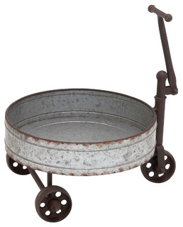 Metal Barrel Cart 12 quot