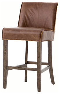 Aria Counter Stool Brown Leather